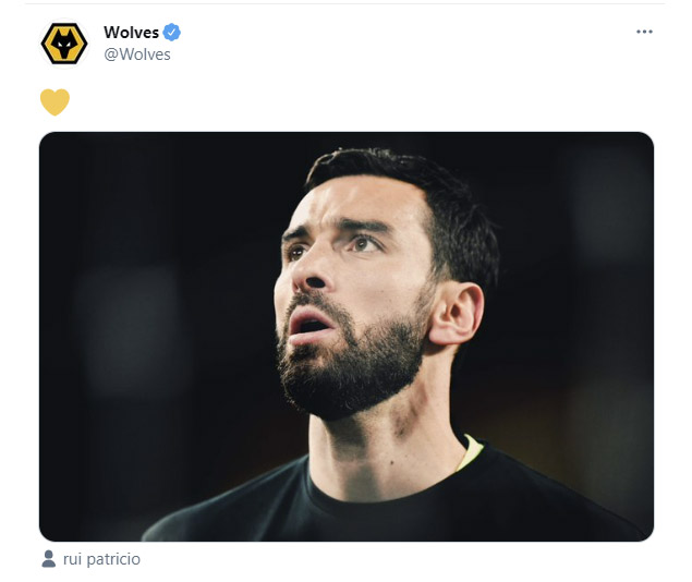 Wolves best wishes tweet shows best practice too